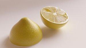 3D model juicy lemon