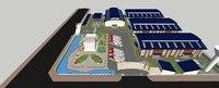 model industrial plant