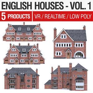 3D model english brick - houses