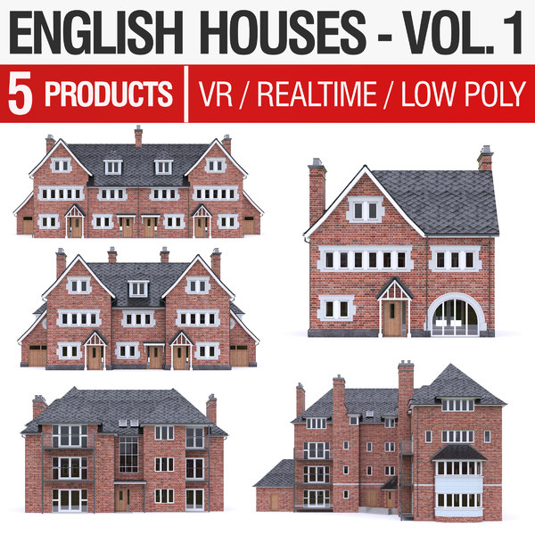 3D model english brick - houses