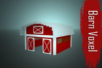 3D barn voxel low-poly