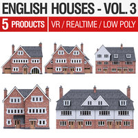 3D english brick - houses