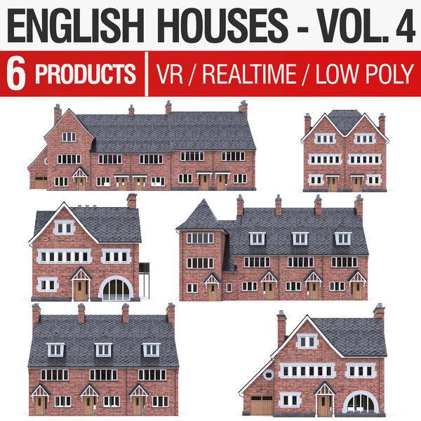 english brick - houses 3D