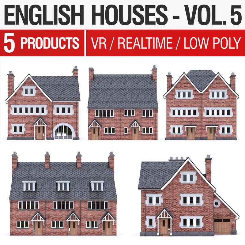 english brick - houses 3D model