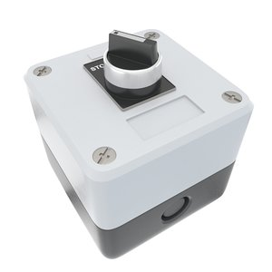3D industrial switch button model
