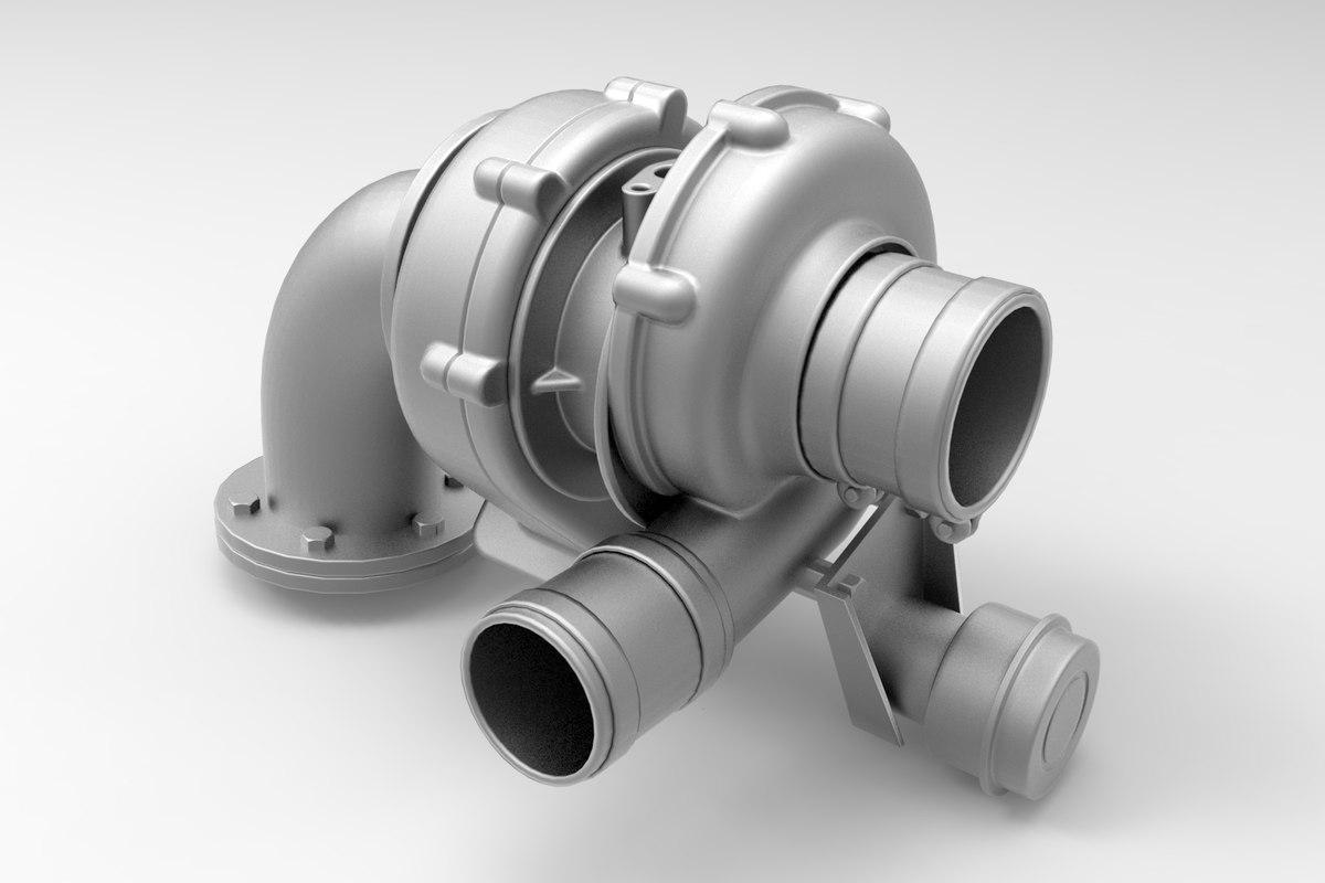 3D turbocharger -