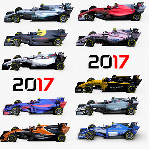 3D formula 2017 cars 1 model