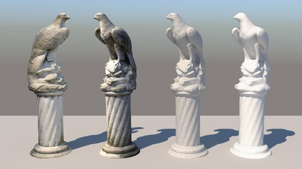 concrete eagle 3D
