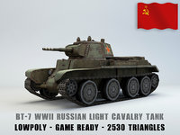 3D light cavalry tank bt