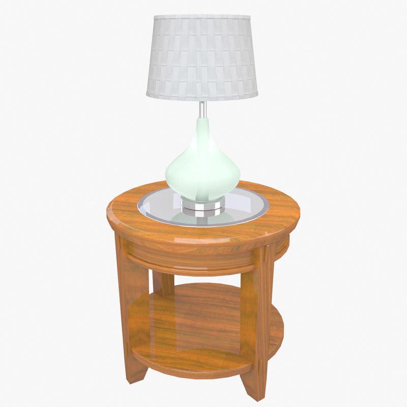 end table lamp 3D model
