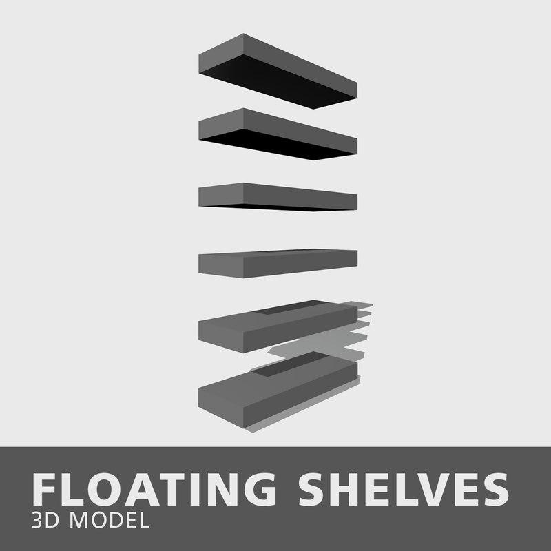 floating shelves 3D model