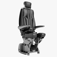 3D airplane pilot chair