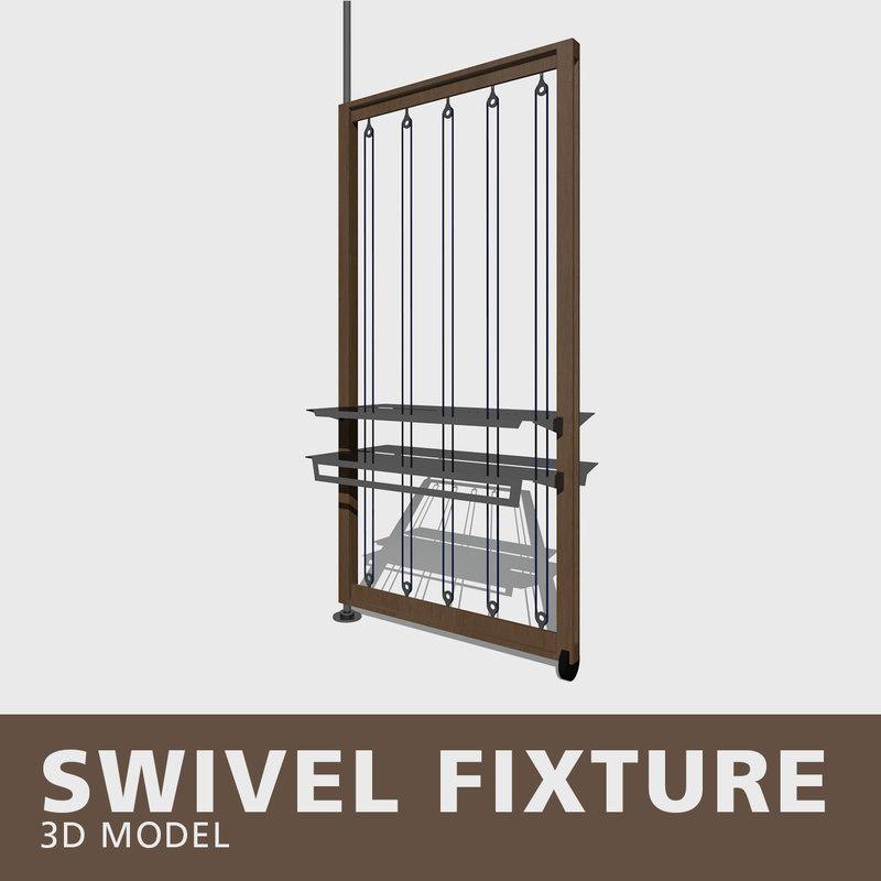 3D swivel fixture model