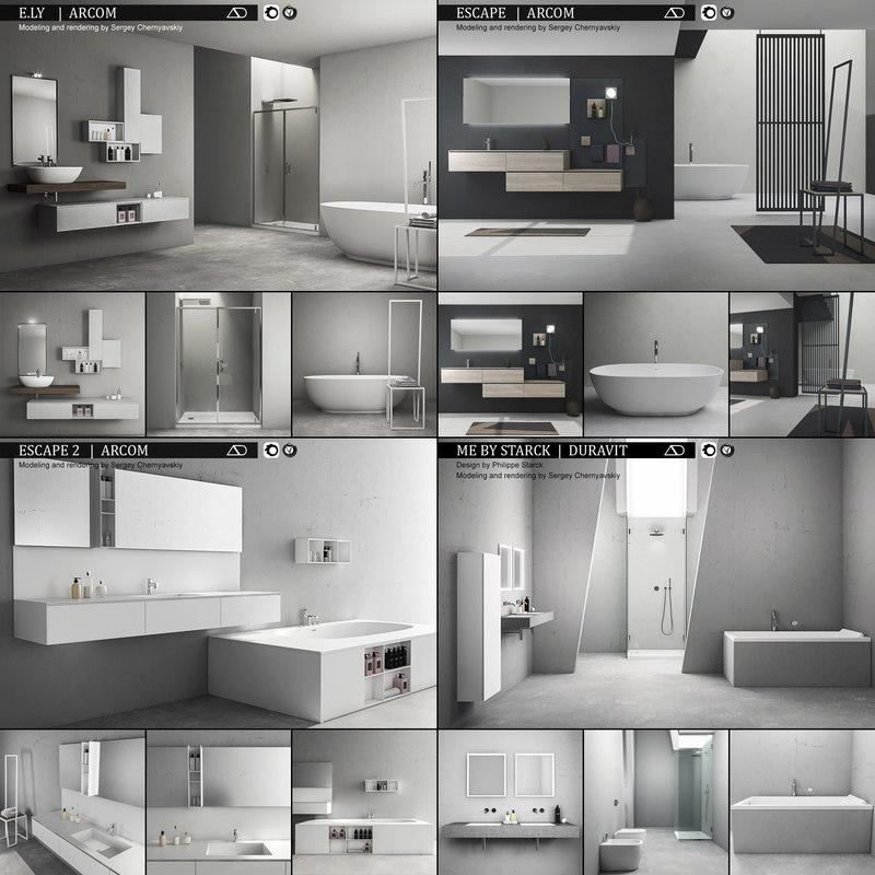 3D model bathroom furniture 3 e