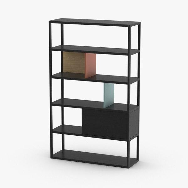 3D model modern-bookcase