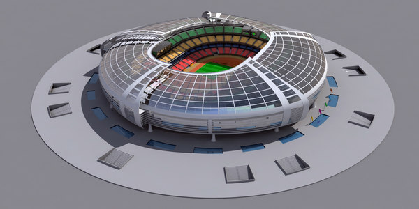 3D modern olympic stadium model