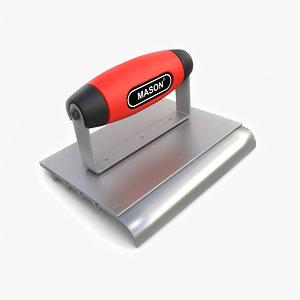 3D safety steep edger groover model