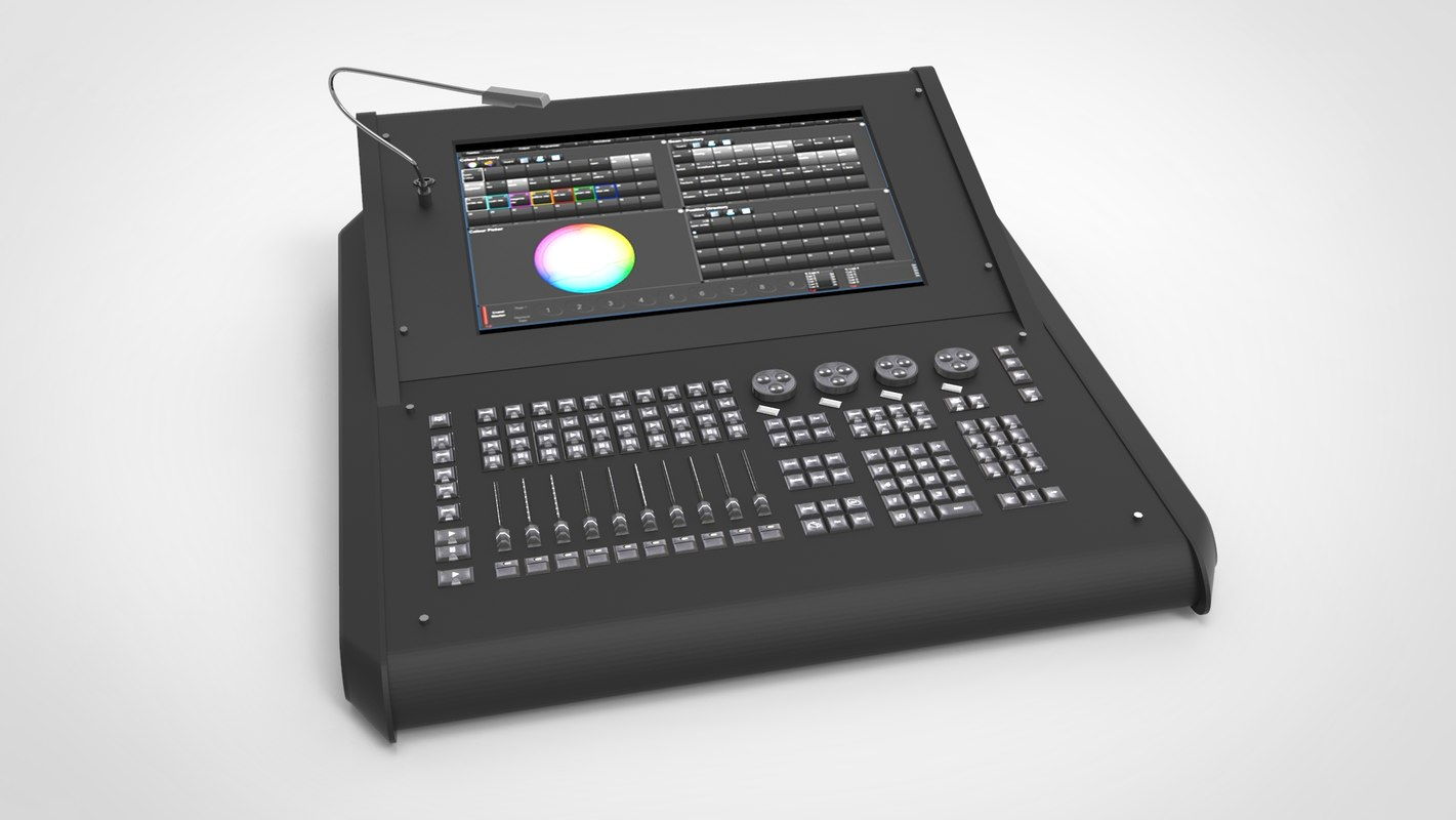 3D lighting console - road