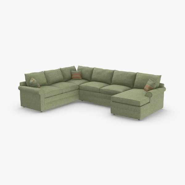 3D model classical-sectional-sofa