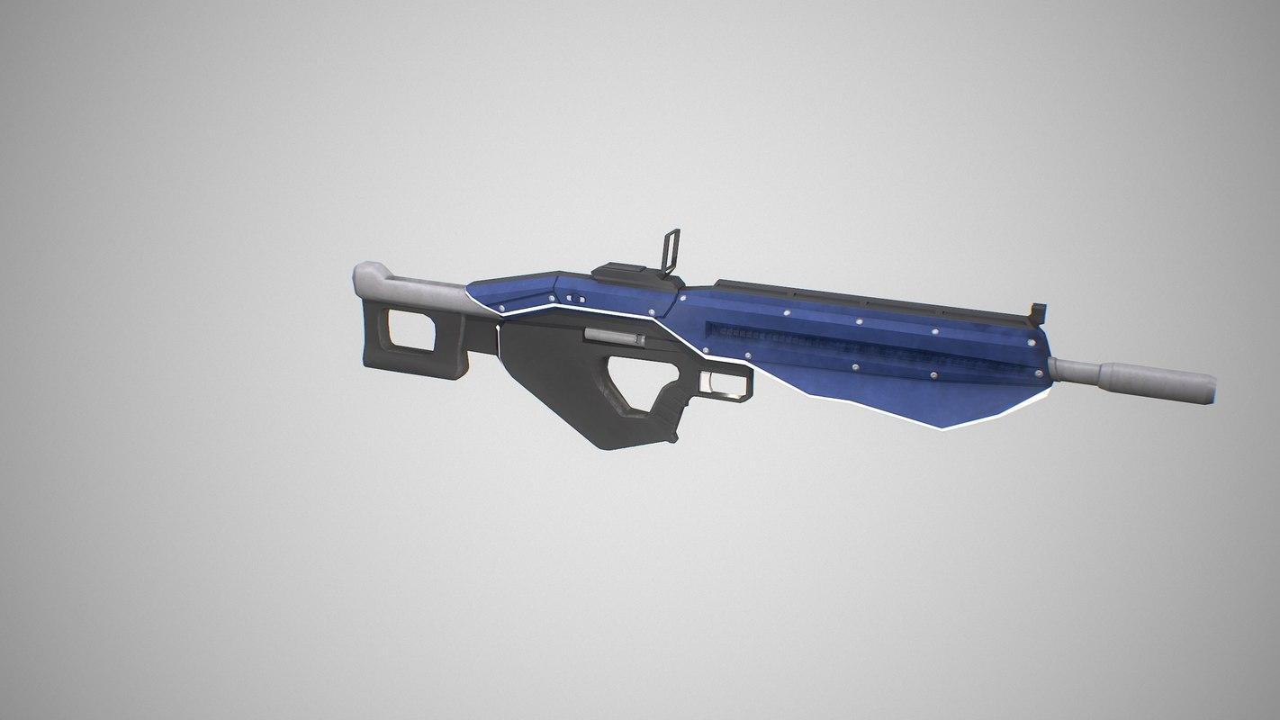 3D sci fi rifle m1