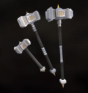 royal war hammer set 3D