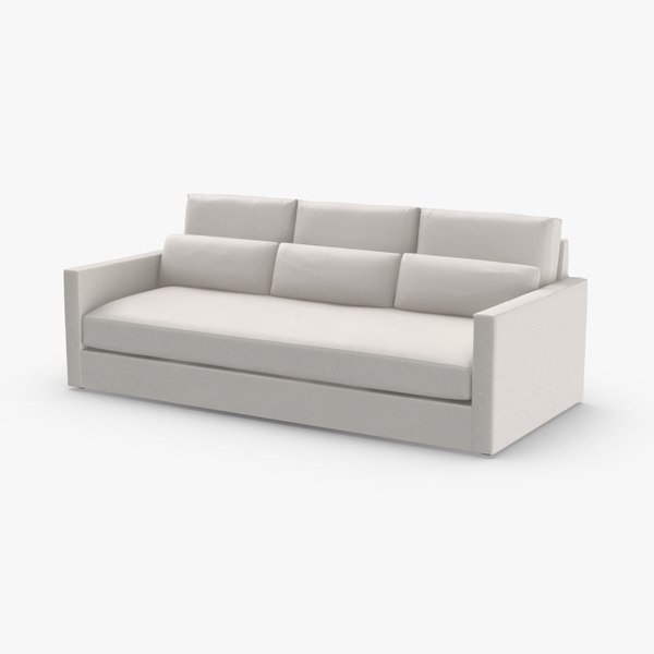 transitional-3-seater-sofa 3D model