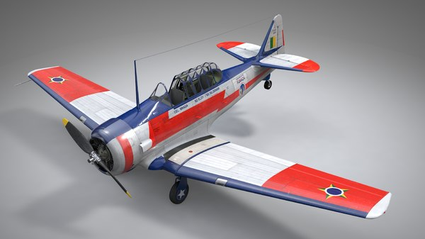 3D north american t6 texan model
