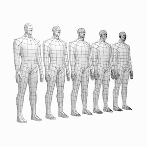 3D mesh hero male body