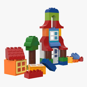 duplo set lego 3D model