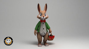 easter rabbit 3D model
