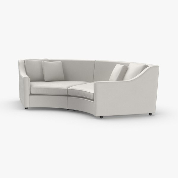 transitional--corner-sofa 3D model
