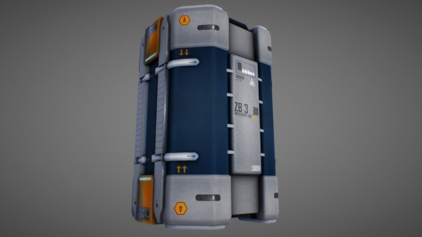 3D sci fi container model