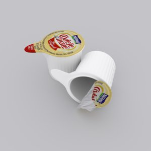 3D coffee creamer
