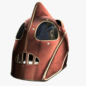3D model helmet rocketeer