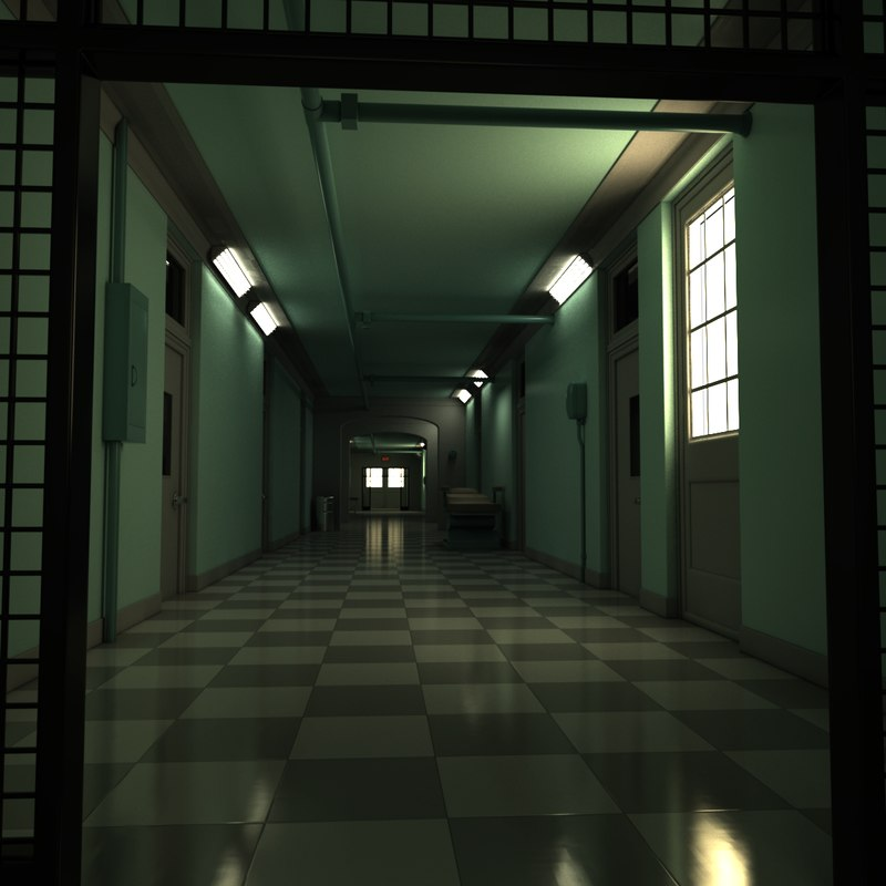 scary corridor elevator 3D model