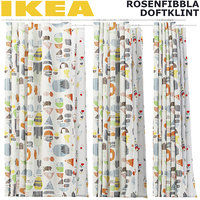DOFTKLINT AND ROSENFIBBLA SHOWER CURTAINS SET