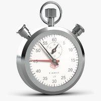 3D stopwatch watch stop model