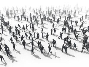 people crowd 3D