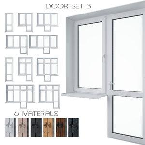 3D set doors