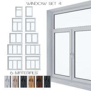 set windows 3D model