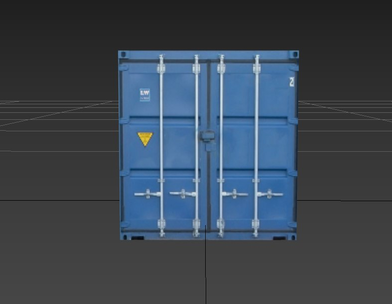 3D blue container model