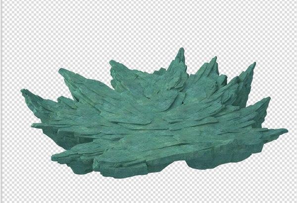 3D cave rock mountain mount model