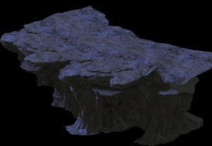 cave rock mountain mount model