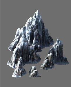 cave rock mountain mount 3D