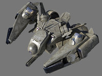 3D future fighter model