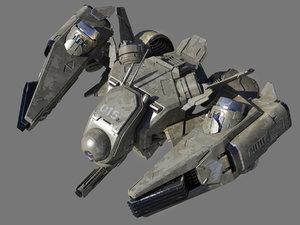 3D future fighter model