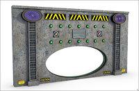 3D model sci-fi wall oval
