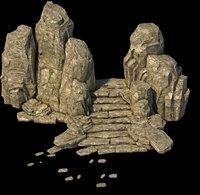 rocks 3D model 101