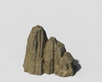 cave rock mountain 3D