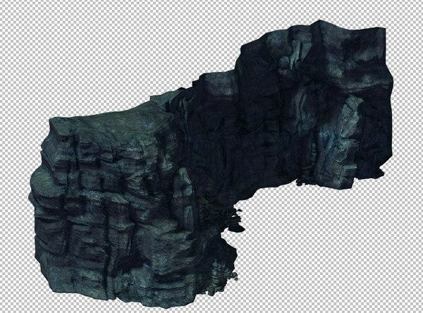 cave rock mountain model